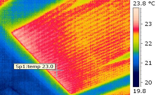 Thermografische Analyse einer Fußboden-Heizung