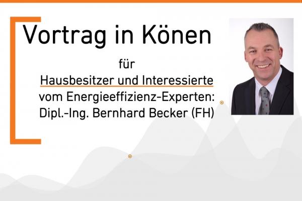Vortrag von Ingenieur Bernhard Becker - Hausbesitzer